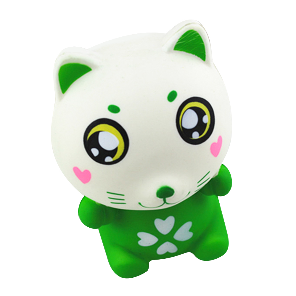 Toyzhijia 1pc Fish Cat Squishy Cute Pussy Soft Cream Scented Bread Cake Kid Fun Toy Super Slow Rising Gift Novelty & Gag Toys