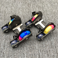 Flashing Roller Skate Shoes with 4 Wheels Pulley Lighted Flashing LED Wheels Heel Skate Rollers Skates Shoe Sports Children Gift