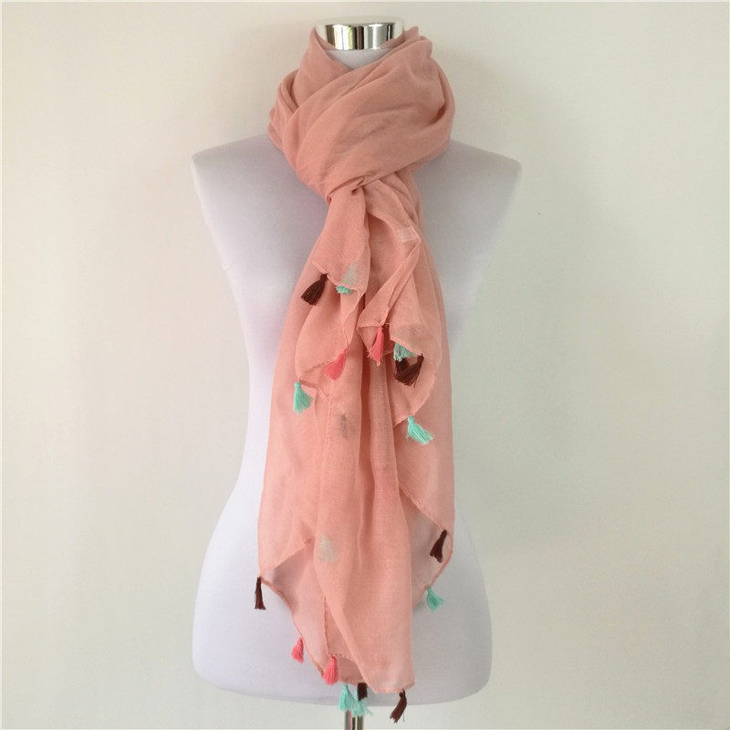 Colorful Tassels Cotton Scarf | Shawls and Wraps | Up to 60% Off Now
