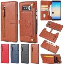 Yishangou съемные многофункциональные молнии Натуральная кожа бумажник держателя карты флип чехол для Samsung Galaxy S7edge s8plus Примечание 8