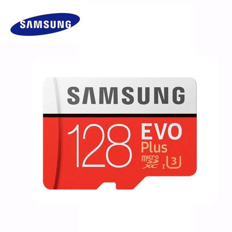 SAMSUNG carte Micro SD 128 go carte mémoire EVO Plus 128 go Class10 TF carte C10 microsd UHS-I U3 livraison gratuite