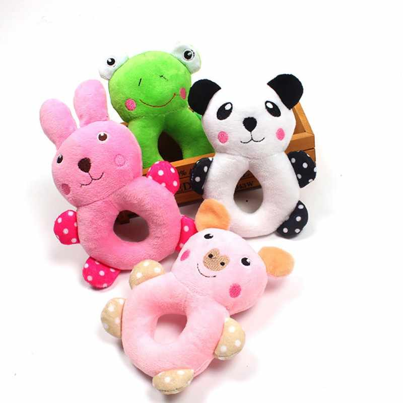 Pet Cat Plush Squeaky Chew Molar Toys for Dogs Puppy Clean Teeth Toys Multiple Animal or Fruit Shapes Puppy Grinding Teeth Toy