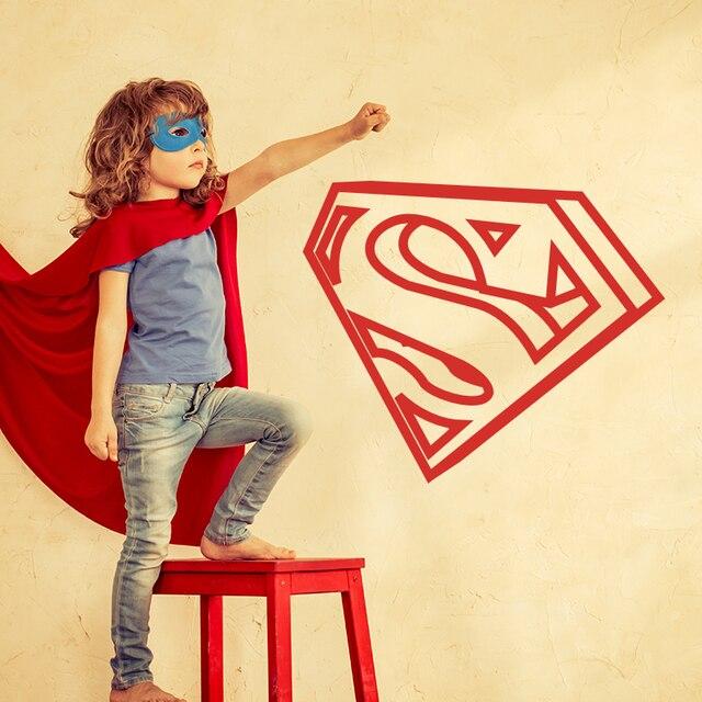 The Avengers Superhero Superman Logo 3D Wall Sticker Anak Kamar ...