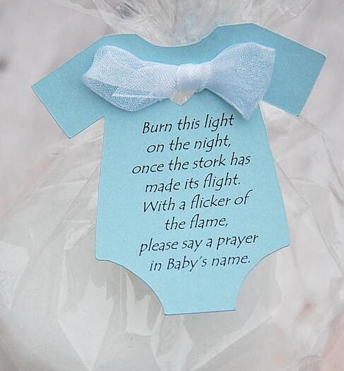 Personalize Burn This Candle Baby Shower Gift Tags Welcome Thank You