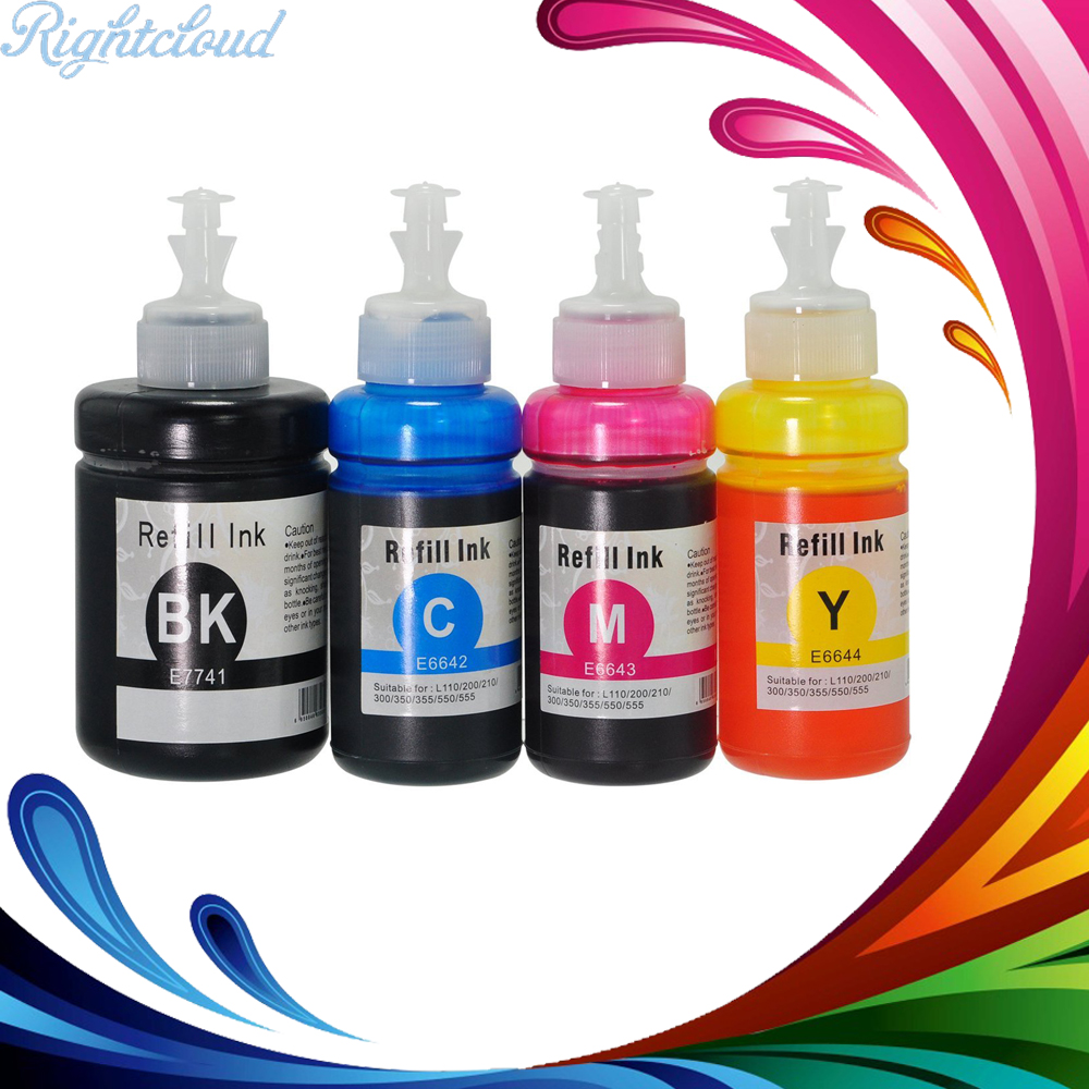 Hisaint Hot Compatible Ink Cartridge Replacement for Epson T774 ( Black,Cyan,Magenta,Yellow ) 4x70ml Refill ink Printer ink new arrivals hisaint hot compatible toner cartridge replacement for hp cc532a 304a yellow 1 pack special counter free shipping