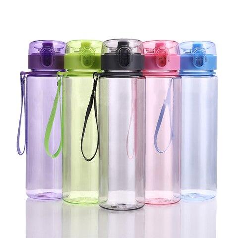 400ml/560ml BPA Free Leak Proof Sports Water Bottle High Quality Plastic Drinkware Tour Hiking Portable Climbing Water Bottles Lahore