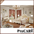 Master bedroom king size bed solid carving bed romantic princess bed
