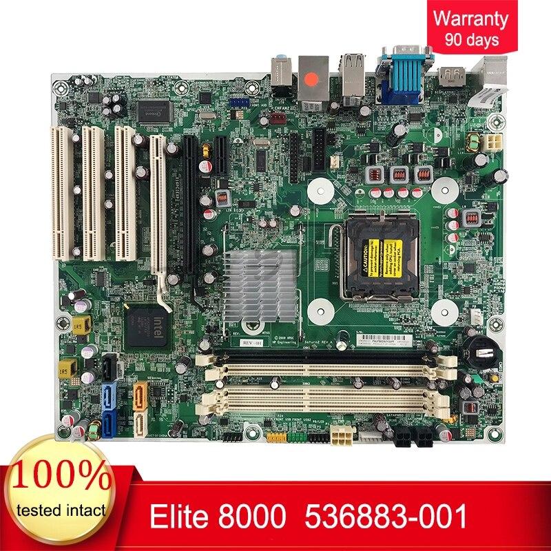 Pour carte mère de bureau HP Elite 8000, Q45, DDR3, s775, 536883-001,536455-001 ATX work perfect livraison gratuite