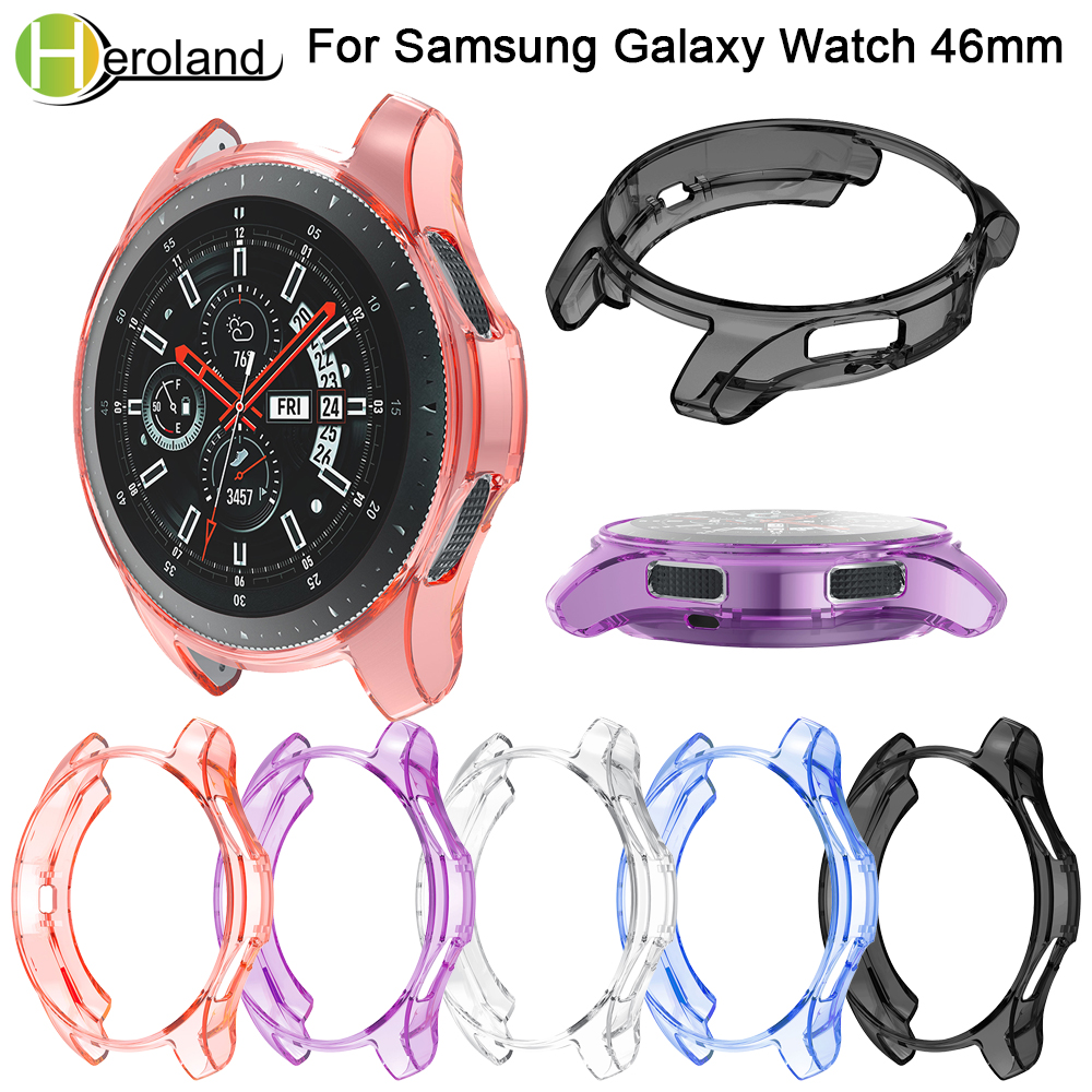 Tpu Protective Case Cover Shell For Samsung Galaxy Watch 46mm Smart Watch Accessories Frame Cases Protective For Samsung Gear S3