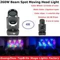 4в1 упаковочный кофр 260 Вт лучевые прожекторы с движущейся головкой DMX512 сценический эффект для дискотеки освещение для свадебных мероприяти...