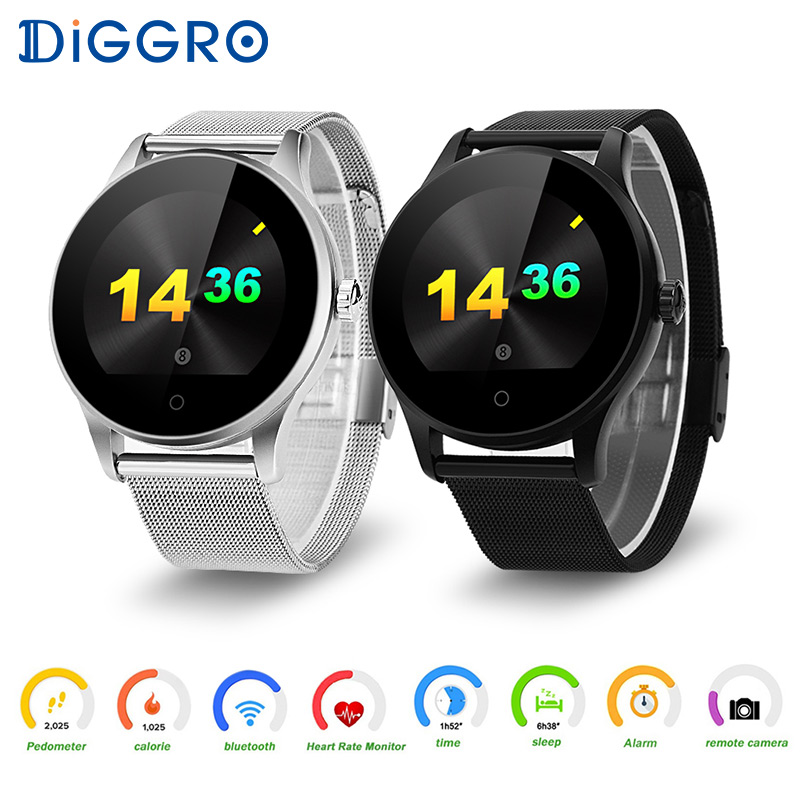 Diggro K88H Smart Watch Bluetooth 4.0 Heart Rate Monitor Smartwatch Wearable Devices MTK2502C Wristwatch For IOS Android