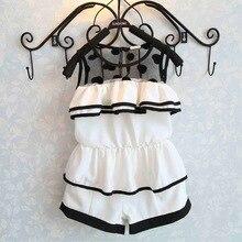 2016 summer baby girls clothes polk dot vest+shorts 2pcs infant girls clothing sets suit 2-7T pink lace roupas infantis menina
