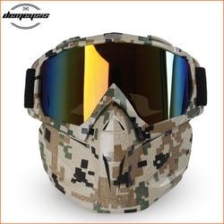 Gorąca sprzedaż rower narciarstwo maska motocyklowa gogle taktyczna wojskowa maska okulary Airsoft hełm z maską gogle uniwersalna maska