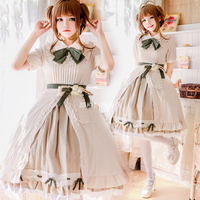 2018 New Arrival Sweet Lolita Dress Short Sleeves Bowknot Lolita Dress Daily Princess Dress Wholesale