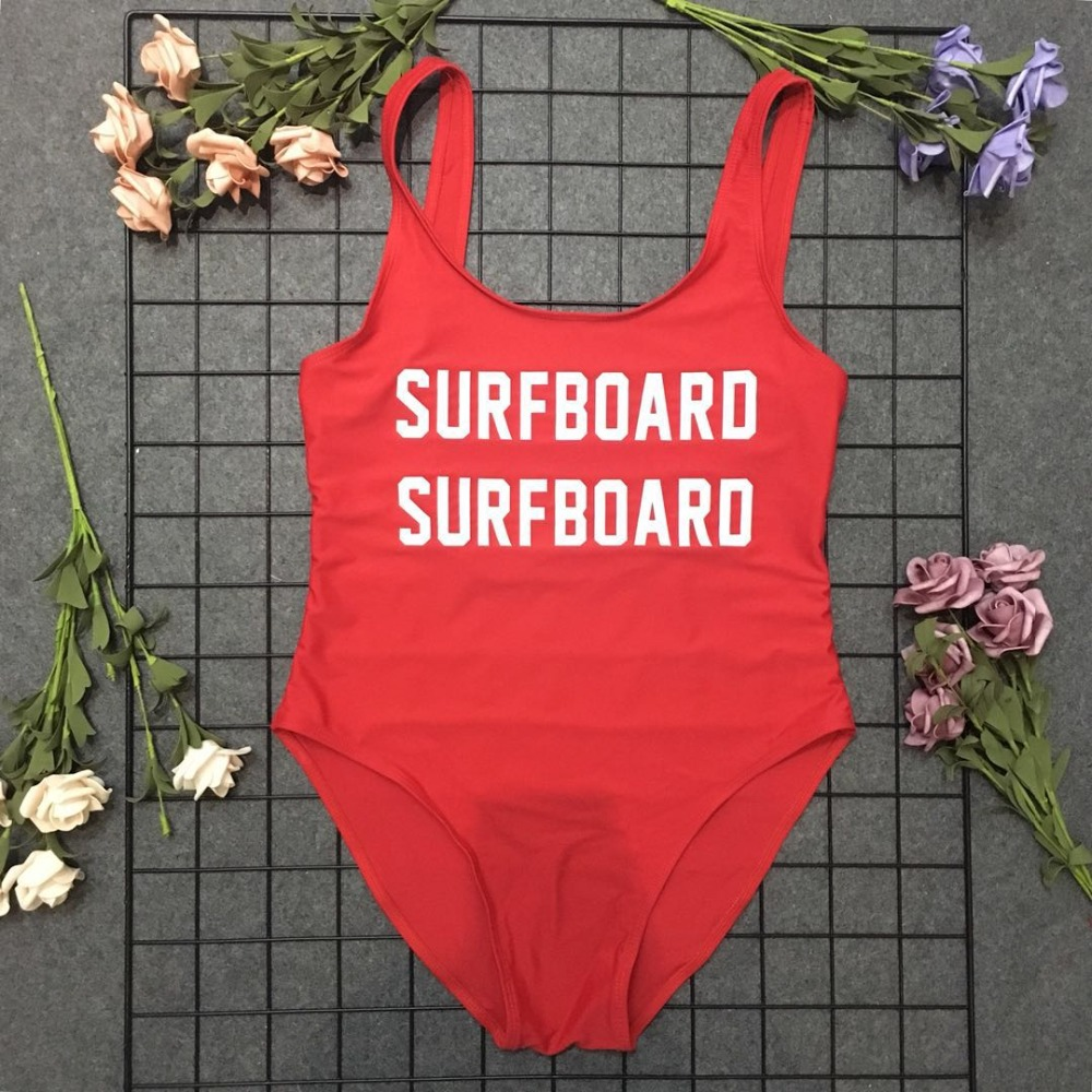 One piece swimsuit sexy Beachwear SURFBOARO Woman Beach Print summer fashion Backless Swimwear Bathing Suit Bodysuit trend