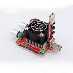 جهاز اختبار التيار الكهربائي المزدوج القابل للتعديل 35 واط + QC2.0/3.0 مشغلات جهد سريع usb جهاز تفريغ الفولتميتر للشيخوخة