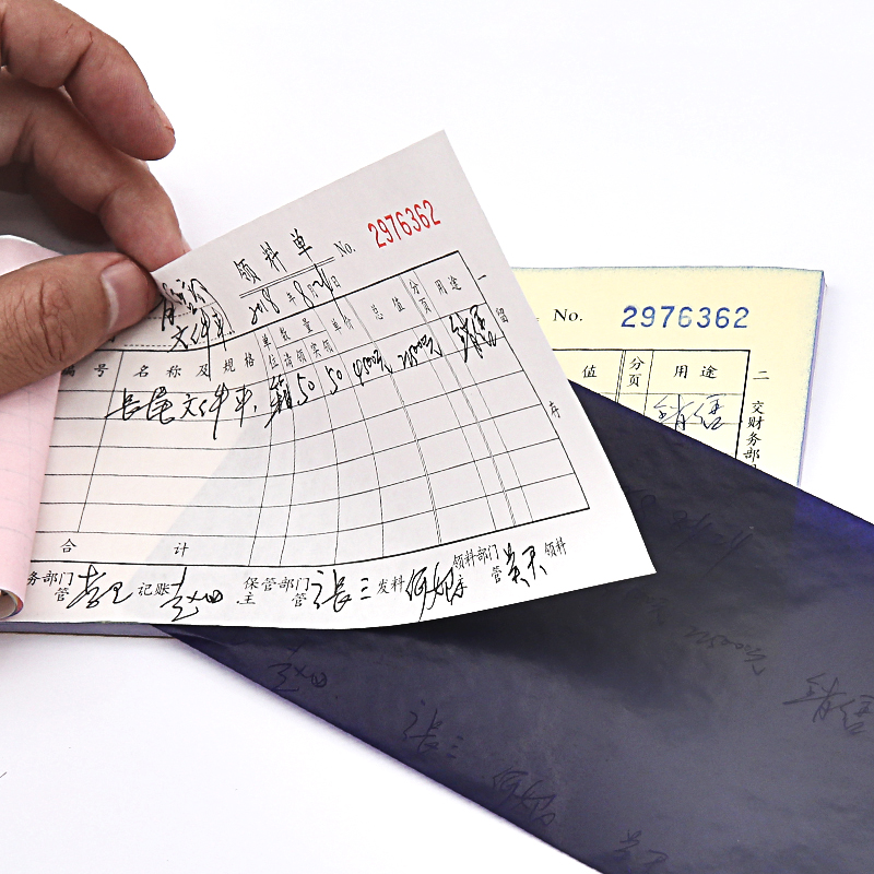 100 Sheets Blue Color 48K Thin Carbon Paper Include 3 Red Ones 48K 85mmx185mm Accounting Supplies