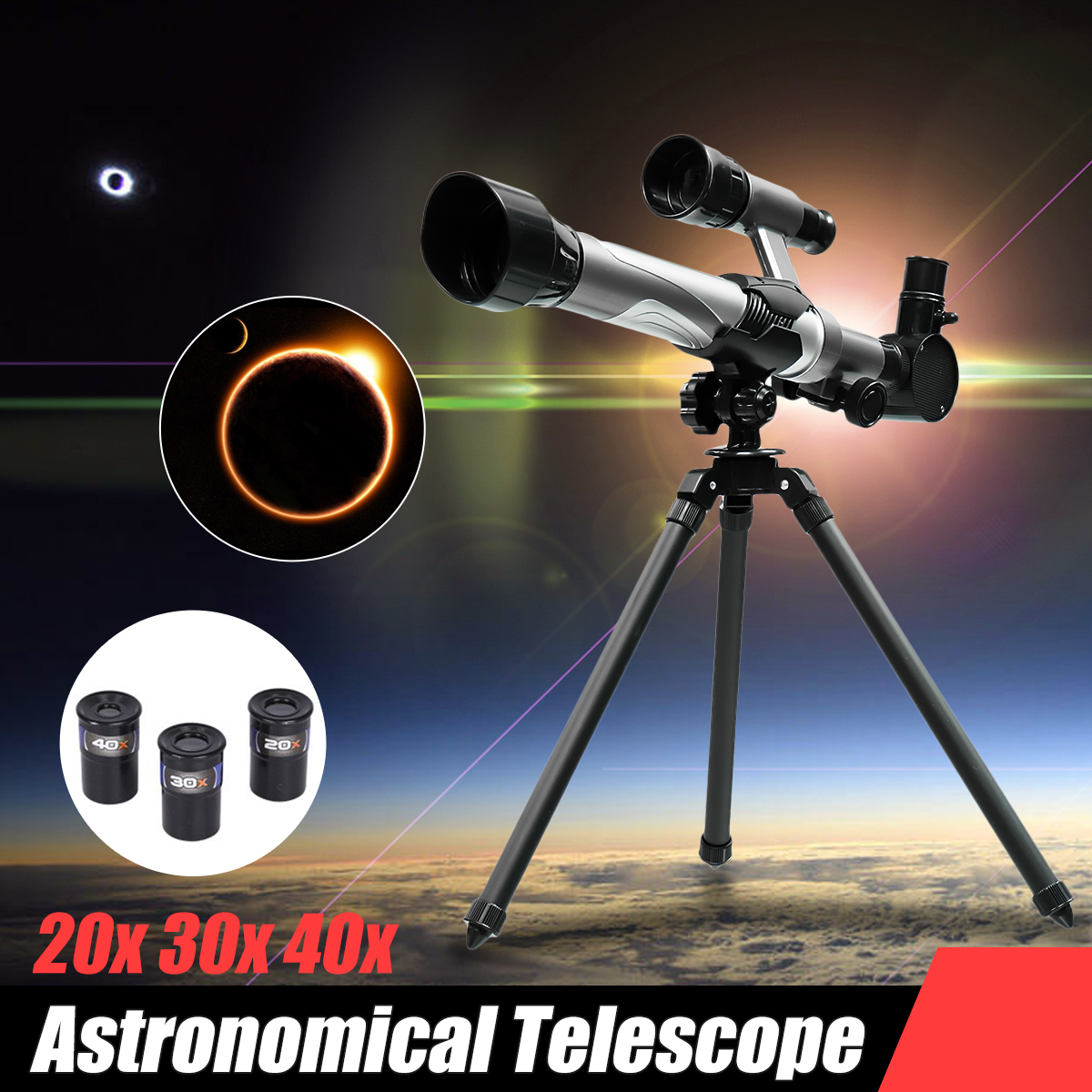 Refractive Monocular Astronomical Telescope Space Spotting Telescope TripodF +3 Eyepiece Educational Toys For Children Kids цена