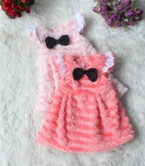 EMS-DHL-Free-shipping-Little-girls-Cute-Black-Bow-Butterfly-Kids-Little-Girls-Faux-Fur-Vest
