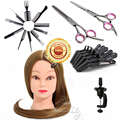 """Wholesale 26"""" Hair Training Head Professional Hair Styling Cosmetology Mannequins with Salon Tool Kits B20Q"""