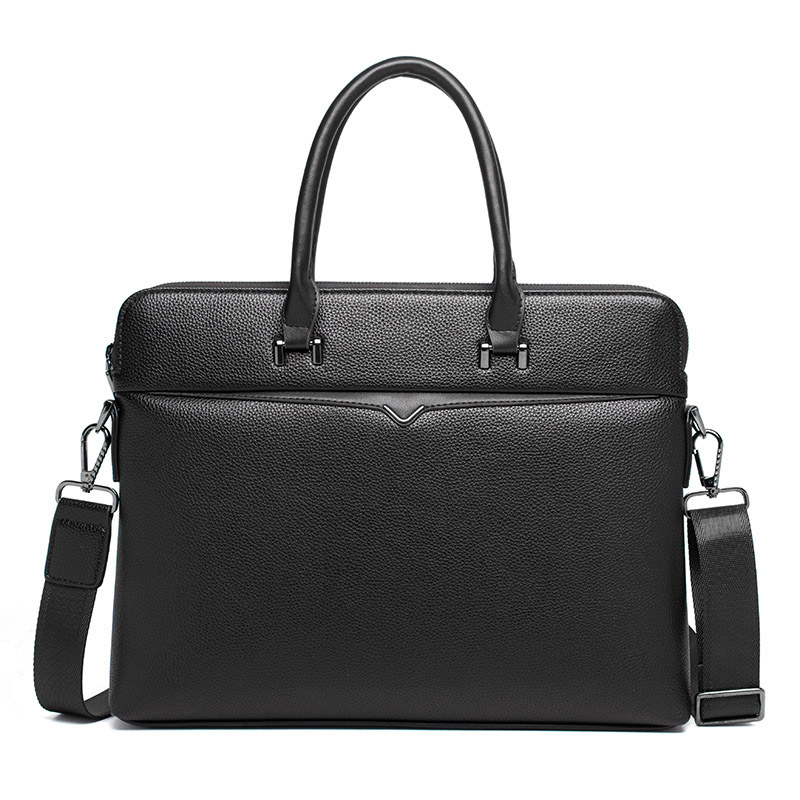 Men's Briefcase Vintage Tote Computer-Bag Business Casual Luxury New Boy Male Alligator