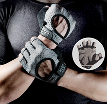 NO PAIN NO GAIN Professional gym gloves Breathable Women Man Anti-skid hands protecting weight-lifting bodybuilding half finger