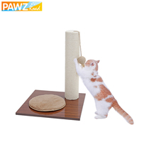 PAWZ Road H 42cm Cat Scratching Toy With Ball Toy Multi functional Cat Tower Mat With Cat Kitten Feather Toy Cat Furniture Tree