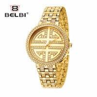 2017 Brand Belbi Watch Fashion Gold Watch Business Quartz Watches Watches Women S Unisex Waterproof Leather
