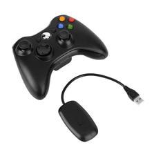 Черный 2.4 Г Беспроводной Геймпад Joypad Game Пульт дистанционного управления Джойстик С Пк Приемник Для Microsoft Для Xbox 360