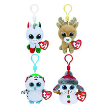 00da61275a727b 10CM Ty Beanie Boos Cat Husky Dinosaur Unicorn Flamingo Keychain Clip Plush  Reindeer Stuffed Animal Doll