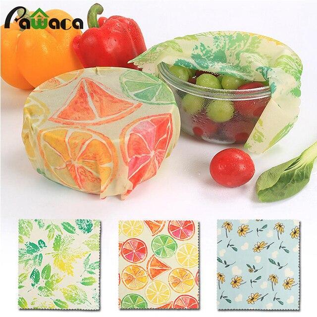 Bienenwachs Lebensmittel Wrap Frische Tuch Reusable Wachs Wraps Essen Umweltfreundliche Snack Wrap Küche Werkzeuge für Sandwich Snack Obst