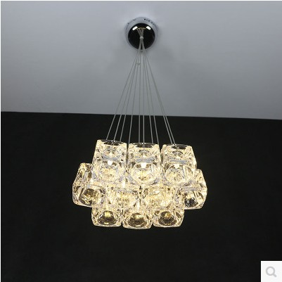 A1 LED Pendant Lights restaurant lamp crystal glass lamps modern minimalist NEW creative art dining room bar Pendant LAMPS rectangular dining room pendant lights european style led crystal pendant lights modern restaurant lamp bar cafe creative lamps