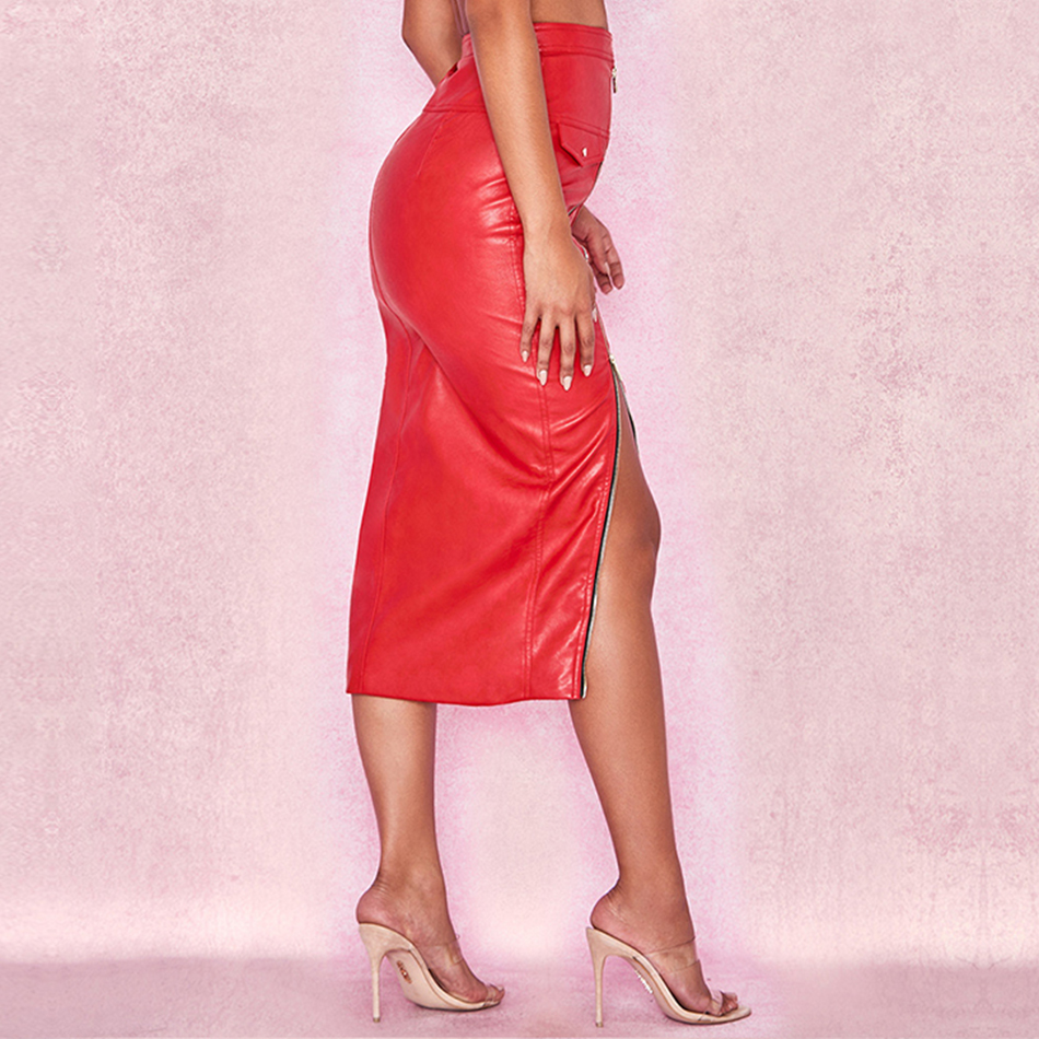 ADYCE-2019-New-Arrivals-Summer-Bodycon-Celebrity-Evening-Party-Women-Skirts-Sexy-Red-Midi-Leather-Club