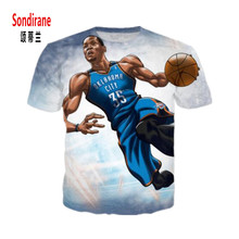 Sondirane Star Durant 3D Sublimation Print Custom Made T-shirt Summer Design Short Sleeve T Shirt Cool Style Men/Women Tops Tees