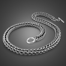 Männer Drache Anhänger Halskette Vintage Schmuck Punk Mode 10 mm 56 cm 100% 925 Sterling Silber Halskette Solide Silber Mann geschenk