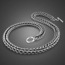 Mannen Draak Hanger Ketting Vintage Sieraden Punk Fashion 10 Mm 56 Cm 100% 925 Sterling Zilveren Ketting Solid Silver Man gift
