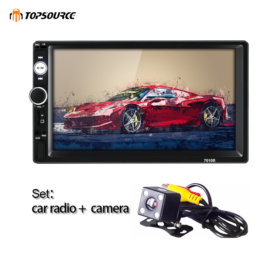 TOPSOURCE 7010B General 2 Din car Radio MP5 7 inch HD touch screen audio font b