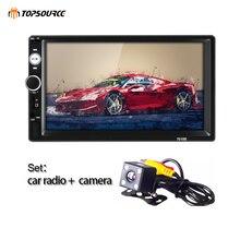 TOPSOURCE 7010B общие 2 Din Автомобильный Радио MP5 7 дюймов сенсорный экран HD Аудио мультимедийный плеер поддерживает Bluetooth USB