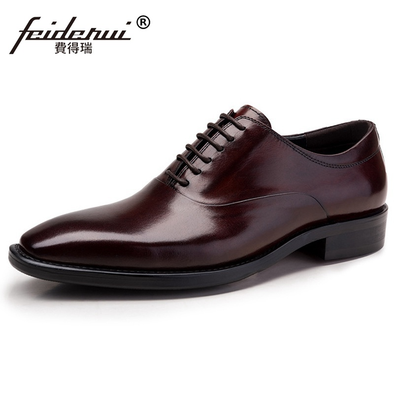 Luxury Brand Man Platform Party Shoes Genuine Leather Wedding Oxfords Pointed Toe Laced Mens Handmade Bridal Male Flats ME93Luxury Brand Man Platform Party Shoes Genuine Leather Wedding Oxfords Pointed Toe Laced Mens Handmade Bridal Male Flats ME93