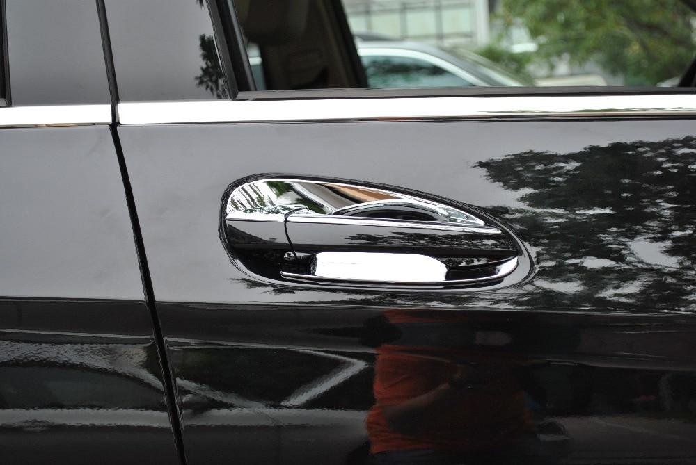 4* Side Door Handle Bowl Cover Chrome trim for Mercedes Benz E Class W213 16-17