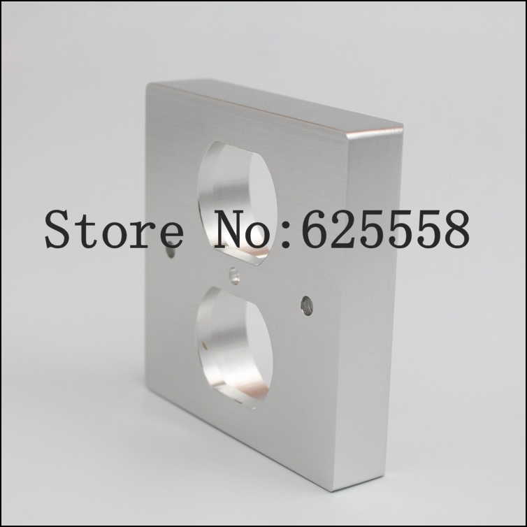 Hifi audio 20MM Thickness US Socket AC Power Duple Receptacle Cover Outlet Wall Plate Panel 86x86 стоимость