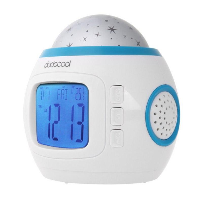 Лидер продаж рабочего стола Часы Despertador цифровой музыки Звездное небо проекции Будильник Календари термометр 5076