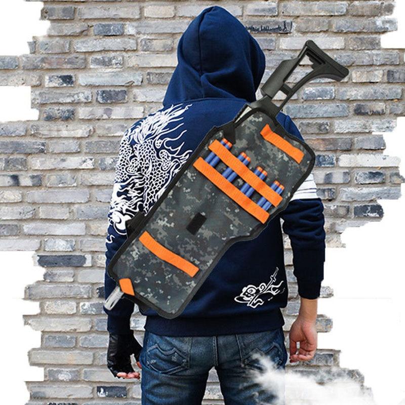 Conscientious Children Toys Gun Bullet Soft Darts Back Pocket Backpack Storage Tactical Bag Holder For Nerf N-strike Outdoor Sports Games