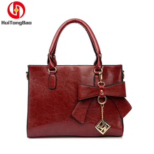 Womens Retro Bow Shoulder Portable Messenger Bag Handbags Women Famous Brands Bags for 2018