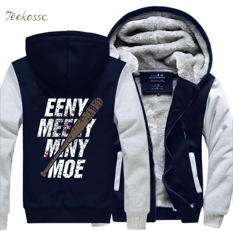The Walking Dead Hoodie Zombie Winter Fleece Mens Boys Thicken Sweatshirts Coat