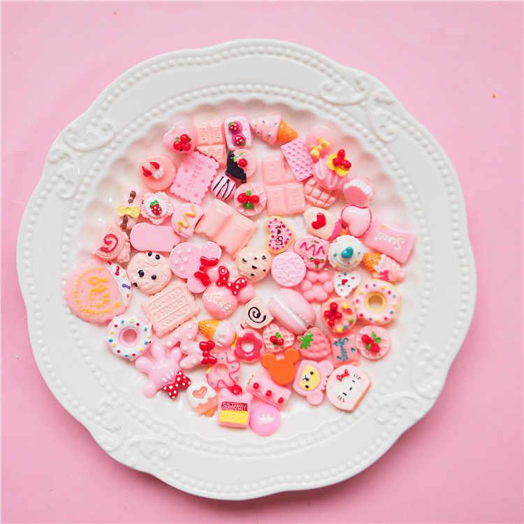 8pcs Miniature Mini ผลไม้และผักของเล่นไอศกรีมเค้กอาหารของเล่นสำหรับตุ๊กตาเด็กเด็กห้องครัวของเล่น E