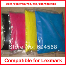 High quality color toner powder compatible Lexmark C720/750/780/782/734/736/920/910 Free Shipping