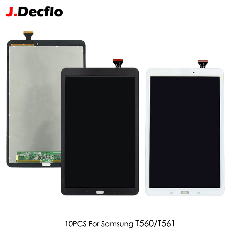 10 PCS Original For Samsung Galaxy Tab E 9.6 T560 T561 SM T560 SM T561 Tablet LCD Display Touch Screen Digitizer Assembly