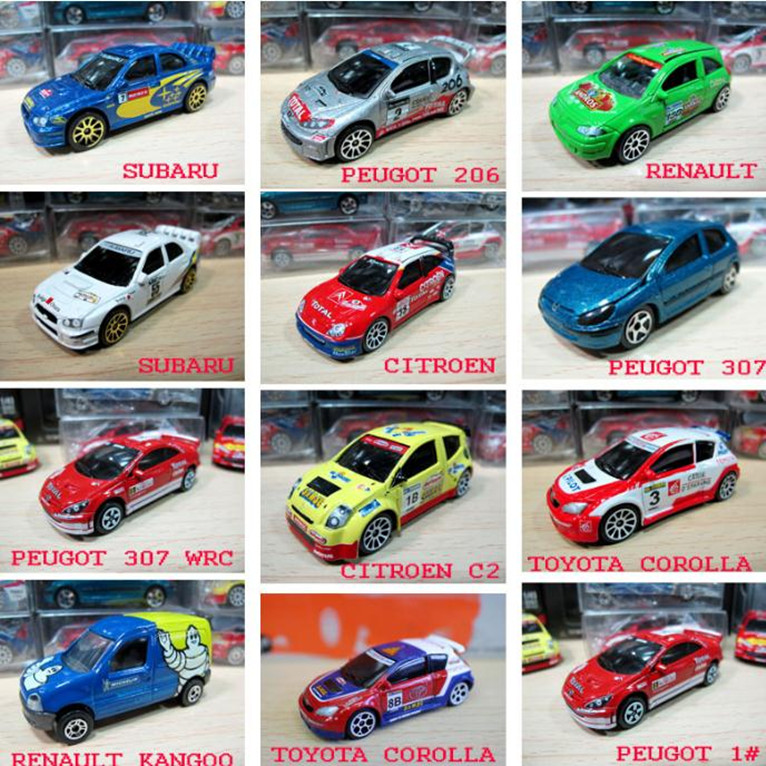 High simulation Renault,peugot,toyota corolla,subaru racing model,1:64 alloy car models,metal diecasts,toy vehicle,free shipping
