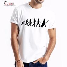 2QIMU 2019 Mens Cotton Short Sleeve T-Shirt Summer Casual Cartoon Print Tops Tees Hipster Hip Hop O-Neck Slim